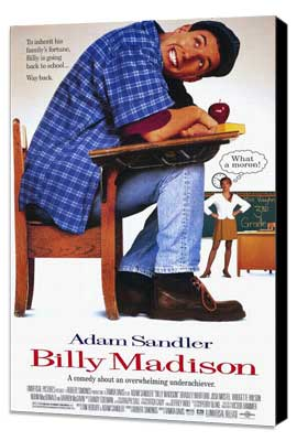 Billy Madison - 27 x 40 Movie Poster - Style A - Museum Wrapped Canvas