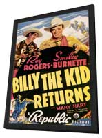 Billy the Kid Returns - 11 x 17 Movie Poster - Style A - in Deluxe Wood Frame