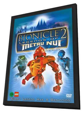 Bionicle 2: Legends of Metru Nui - 27 x 40 Movie Poster - Korean Style A - in Deluxe Wood Frame