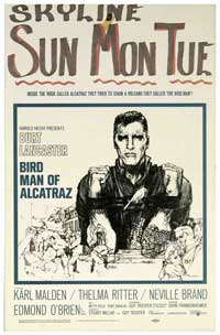 Birdman of Alcatraz - 14 x 22 Movie Poster - Window Card