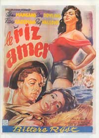 Bitter Rice - 27 x 40 Movie Poster - Belgian Style A