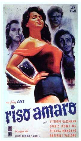 Bitter Rice - 11 x 17 Movie Poster - Italian Style C