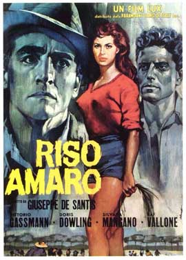 Bitter Rice - 27 x 40 Movie Poster - Italian Style A