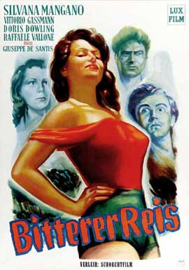Bitter Rice - 27 x 40 Movie Poster - German Style A