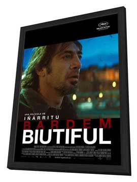 Biutiful - 11 x 17 Movie Poster - French Style B - in Deluxe Wood Frame