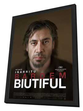 Biutiful - 27 x 40 Movie Poster - French Style A - in Deluxe Wood Frame