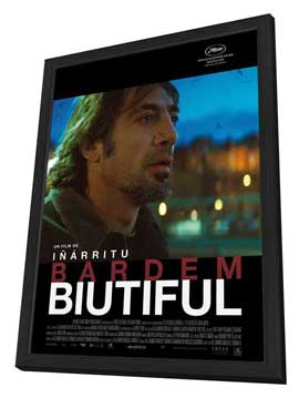 Biutiful - 27 x 40 Movie Poster - French Style B - in Deluxe Wood Frame