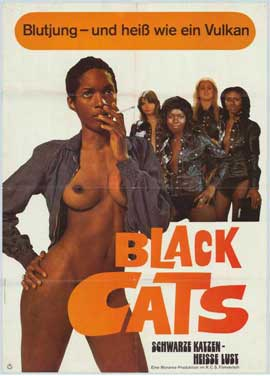Black Alley Cats - 11 x 17 Movie Poster - German Style A