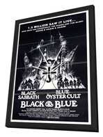 Black and Blue - 27 x 40 Movie Poster - Style A - in Deluxe Wood Frame