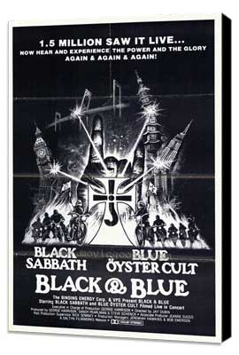 Black and Blue - 11 x 17 Movie Poster - Style A - Museum Wrapped Canvas