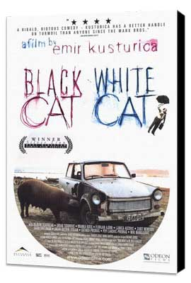 Black Cat, White Cat - 27 x 40 Movie Poster - Style A - Museum Wrapped Canvas