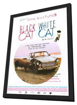 Black Cat, White Cat - 11 x 17 Movie Poster - Style C - in Deluxe Wood Frame