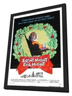 Black Christmas - 27 x 40 Movie Poster - Style B - in Deluxe Wood Frame
