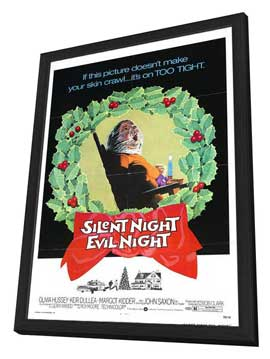 Black Christmas - 11 x 17 Movie Poster - Style B - in Deluxe Wood Frame