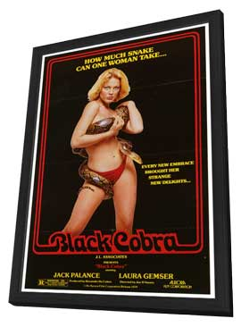 Black Cobra - 27 x 40 Movie Poster - Style A - in Deluxe Wood Frame