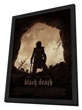 Black Death - 27 x 40 Movie Poster - Style A - in Deluxe Wood Frame