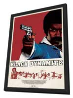 Black Dynamite - 11 x 17 Movie Poster - Style B - in Deluxe Wood Frame