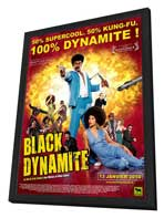Black Dynamite - 30 x 40 Movie Poster - French Style A - in Deluxe Wood Frame