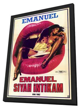 Black Emanuelle - 11 x 17 Movie Poster - Turkish Style A - in Deluxe Wood Frame