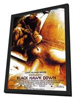 Black Hawk Down - 27 x 40 Movie Poster - Style A - in Deluxe Wood Frame