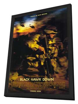 Black Hawk Down - 11 x 17 Movie Poster - Style B - in Deluxe Wood Frame