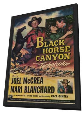 Black Horse Canyon - 11 x 17 Movie Poster - Style A - in Deluxe Wood Frame