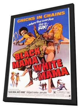 Black Mama, White Mama - 11 x 17 Movie Poster - Style A - in Deluxe Wood Frame