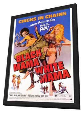 Black Mama, White Mama - 27 x 40 Movie Poster - Style A - in Deluxe Wood Frame