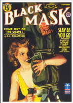Black Mask (Pulp) - 11 x 17 Retro Book Cover Poster