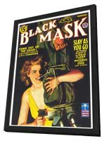 Black Mask (Pulp) - 11 x 17 Retro Book Cover Poster - in Deluxe Wood Frame