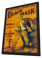 Black Mask (Pulp) - 11 x 17 Pulp Poster - Style A - in Deluxe Wood Frame