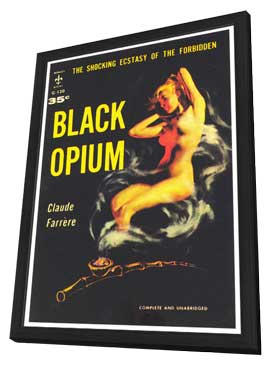 Black Opium - 11 x 17 Retro Book Cover Poster - in Deluxe Wood Frame