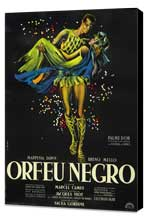 Black Orpheus - 27 x 40 Movie Poster - Style C - Museum Wrapped Canvas
