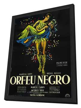 Black Orpheus - 27 x 40 Movie Poster - Style C - in Deluxe Wood Frame