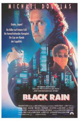 Black Rain - 11 x 17 Movie Poster - German Style A