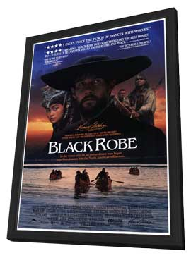 Black Robe - 27 x 40 Movie Poster - Style A - in Deluxe Wood Frame