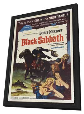 Black Sabbath - 27 x 40 Movie Poster - Style B - in Deluxe Wood Frame