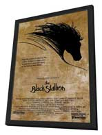 The Black Stallion - 27 x 40 Movie Poster - Style A - in Deluxe Wood Frame