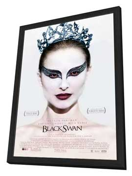 Black Swan - 27 x 40 Movie Poster - Style A - in Deluxe Wood Frame
