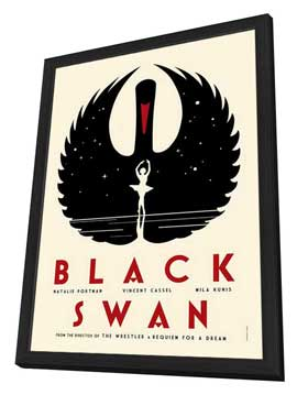Black Swan - 27 x 40 Movie Poster - Style B - in Deluxe Wood Frame