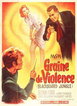 Blackboard Jungle - 11 x 17 Movie Poster - French Style A