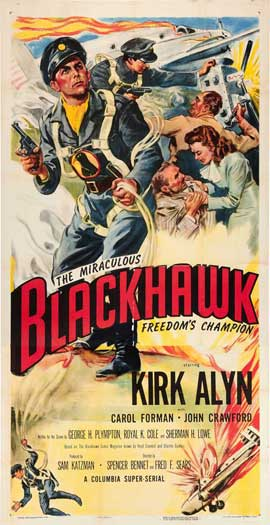 Blackhawk: Fearless Champion of Freedom - 20 x 40 Movie Poster - Style A