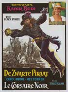 Blackie the Pirate - 11 x 17 Movie Poster - Belgian Style A