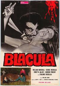 Blacula - 11 x 17 Movie Poster - Italian Style A