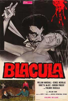 Blacula - 27 x 40 Movie Poster - Italian Style A
