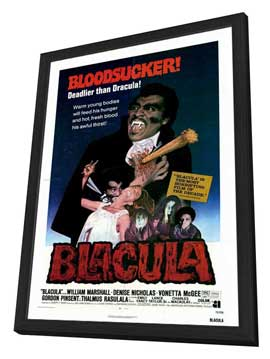Blacula - 27 x 40 Movie Poster - Style A - in Deluxe Wood Frame