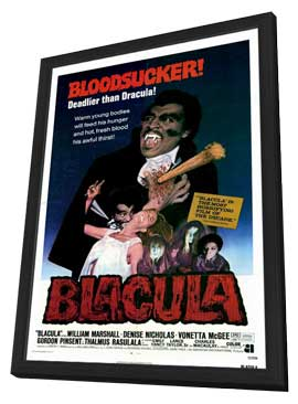 Blacula - 11 x 17 Movie Poster - Style A - in Deluxe Wood Frame