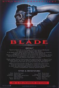 Blade - 11 x 14 Poster German Style A