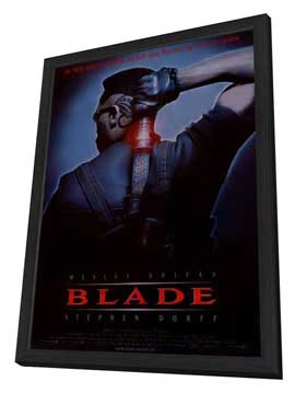 Blade - 11 x 17 Movie Poster - German Style A - in Deluxe Wood Frame
