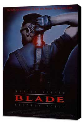 Blade - 11 x 17 Movie Poster - German Style A - Museum Wrapped Canvas
